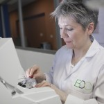 Dr Deborah Rathbone, Feedstock Development Unit Manager setting up the Ion Torrent sequencing machine