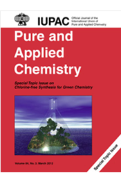 Pure and Applied Chemistry