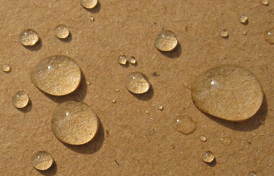 cardboard with droplets - resized